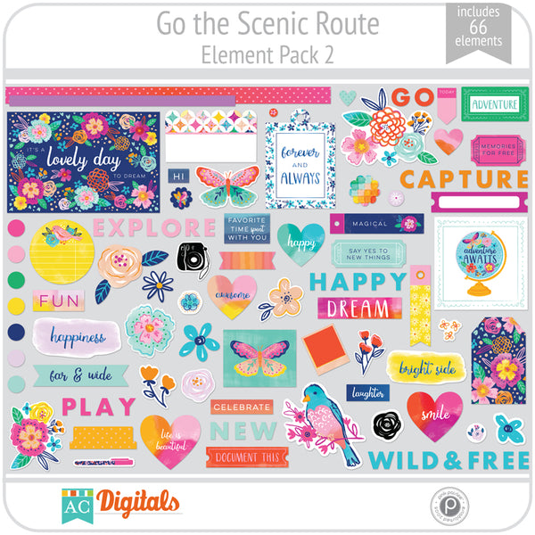 Go the Scenic Route Element Pack 2