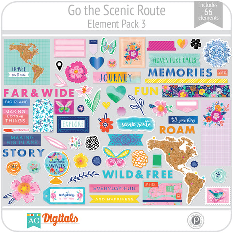 Go the Scenic Route Element Pack 3