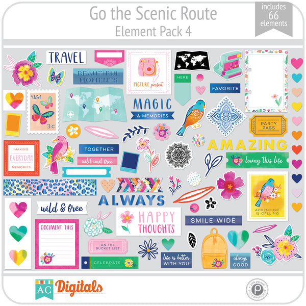 Go the Scenic Route Element Pack 4