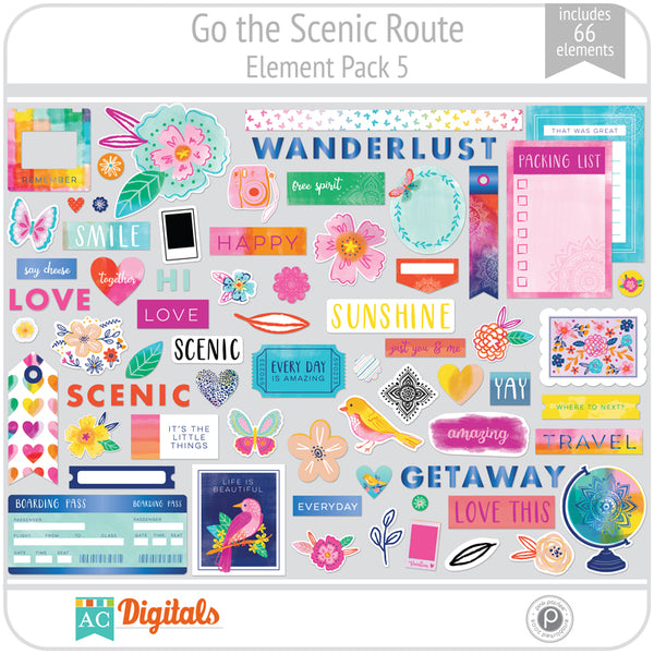 Go the Scenic Route Element Pack 5