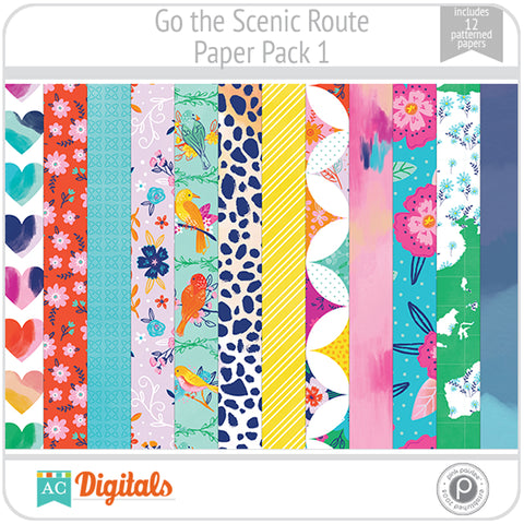 Go the Scenic Route Paper Pack 1
