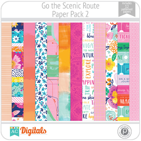 Go the Scenic Route Paper Pack 2
