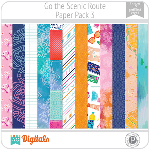 Go the Scenic Route Paper Pack 3