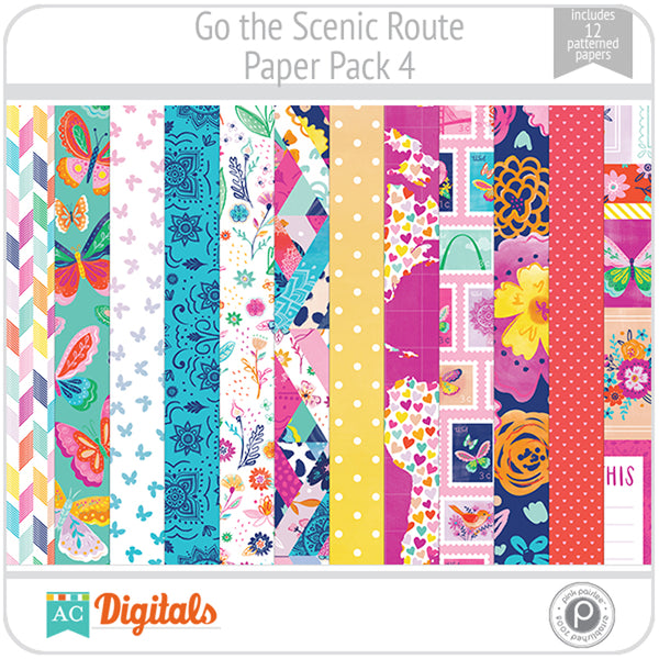 Go the Scenic Route Paper Pack 4