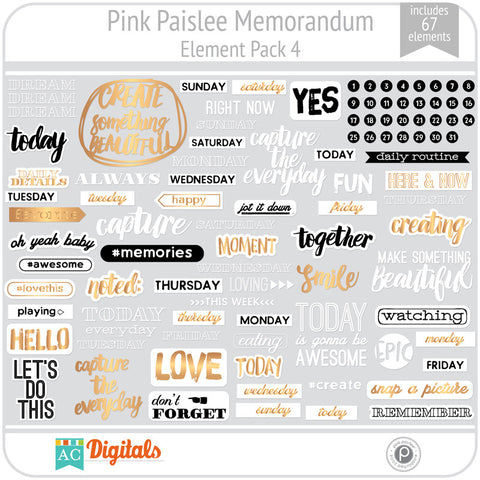 Memorandum Element Pack 4