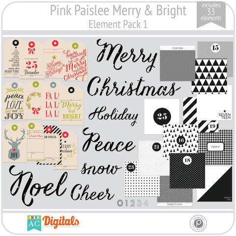 Merry & Bright Element Pack 1