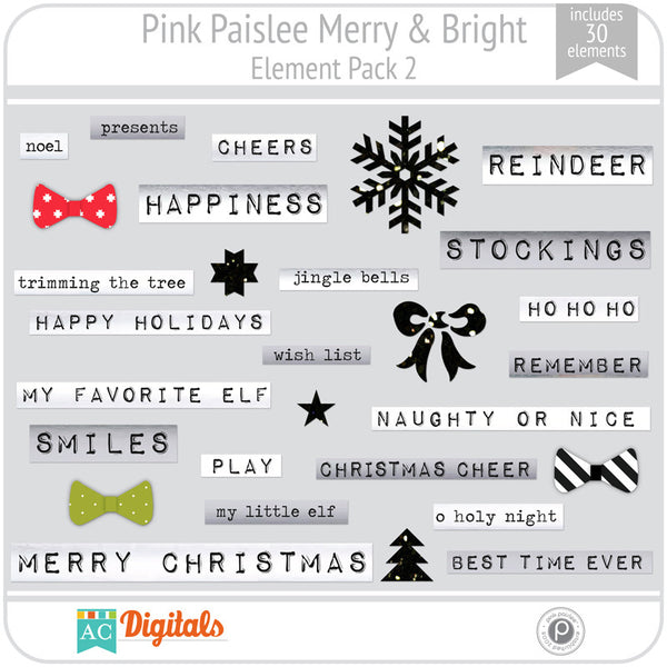 Merry & Bright Element Pack 2