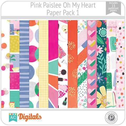 Oh My Heart Paper Pack 1