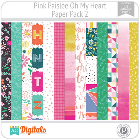 Oh My Heart Paper Pack 2