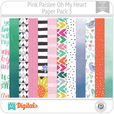 Oh My Heart Paper Pack 3