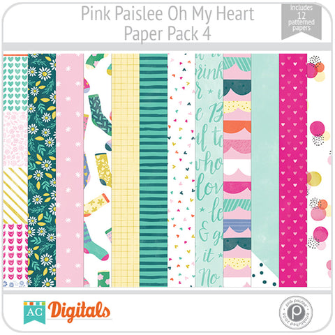 Oh My Heart Paper Pack 4