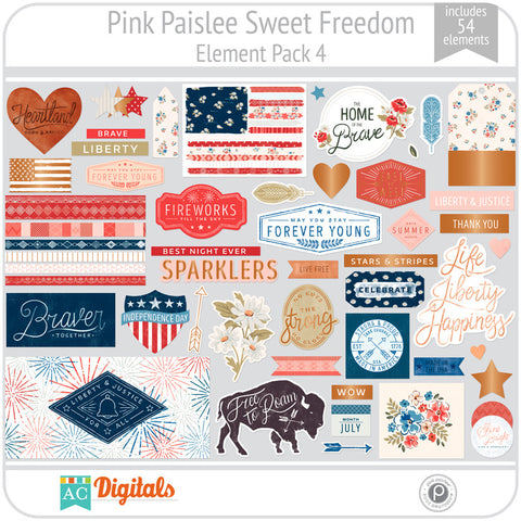 Sweet Freedom Element Pack 4