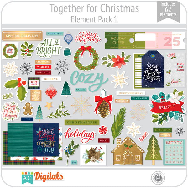 Together For Christmas Element Pack 1