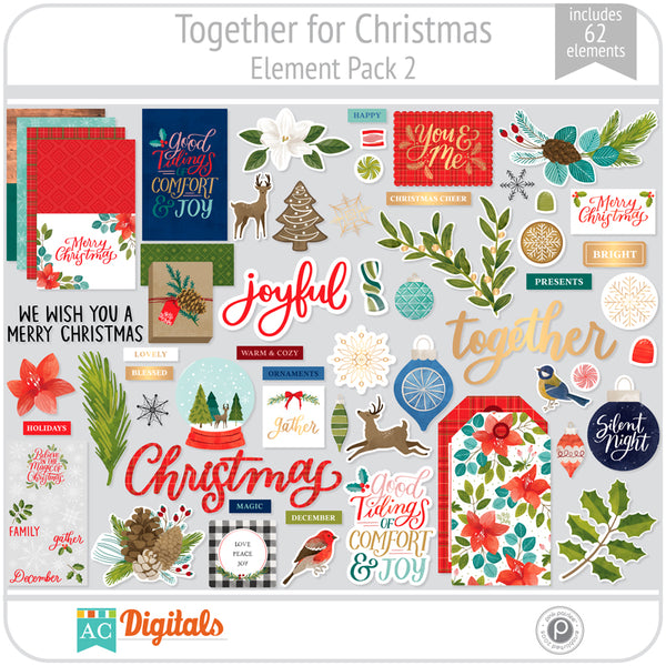 Together For Christmas Element Pack 2
