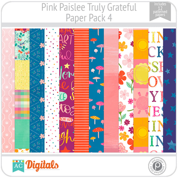 Truly Grateful Paper Pack 4