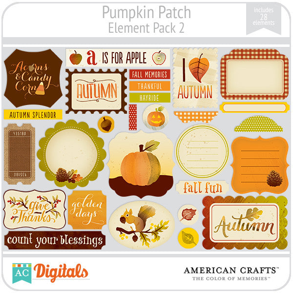 Pumpkin Patch Element Pack #2