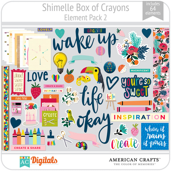 Shimelle Box of Crayons Element Pack 2
