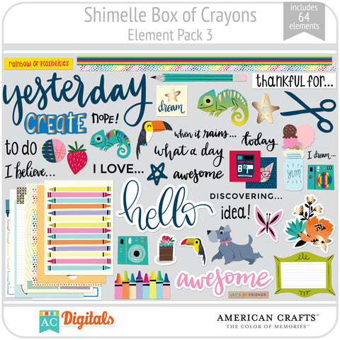 Shimelle Box of Crayons Element Pack 3
