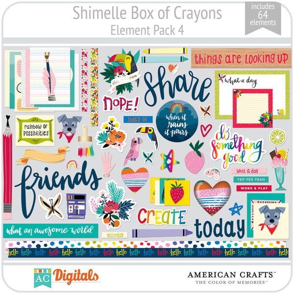Shimelle Box of Crayons Element Pack 4