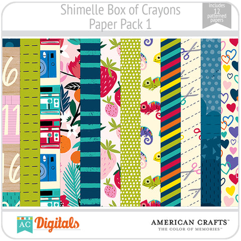 Shimelle Box of Crayons Paper Pack 1