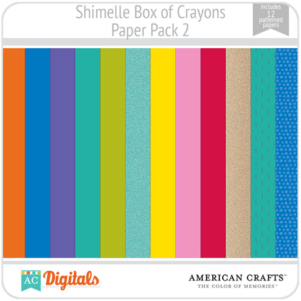 Shimelle Box of Crayons Paper Pack 2