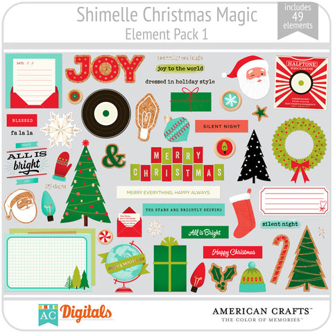 Shimelle Christmas Magic Element Pack 1