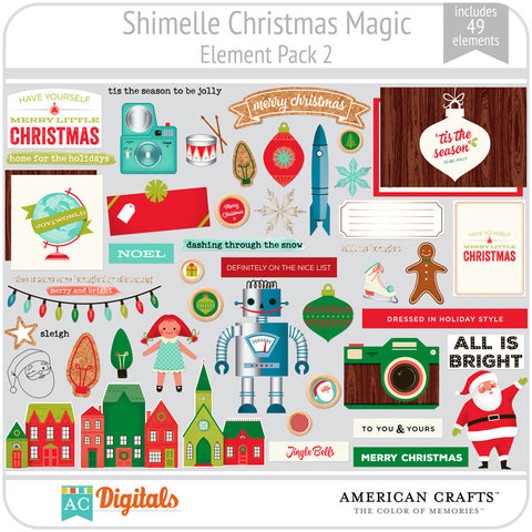 Shimelle Christmas Magic Element Pack 2