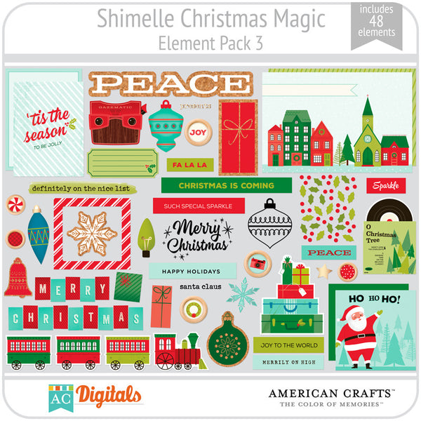 Shimelle Christmas Magic Element Pack 3