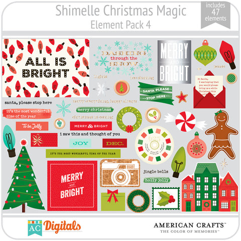 Shimelle Christmas Magic Element Pack 4