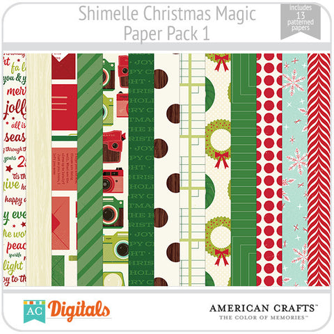 Shimelle Christmas Magic Paper Pack 1