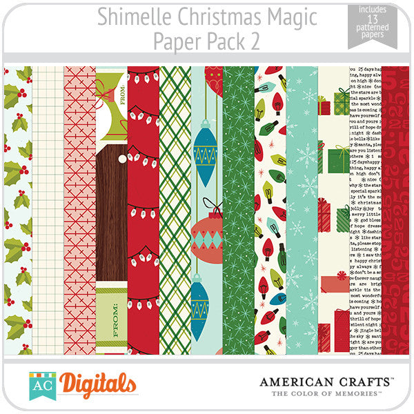 Shimelle Christmas Magic Paper Pack 2