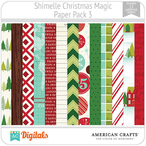 Shimelle Christmas Magic Paper Pack 3