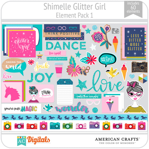 Shimelle Glitter Girl Element Pack 1