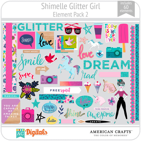 Shimelle Glitter Girl Element Pack 2