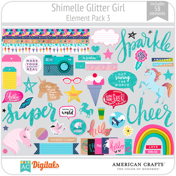 Shimelle Glitter Girl Element Pack 3