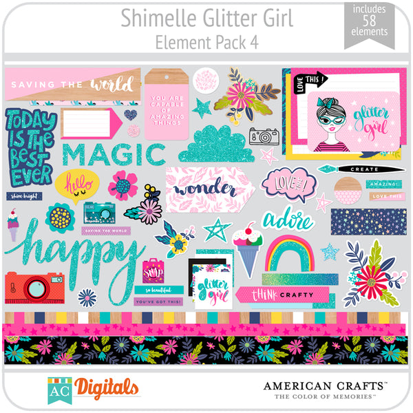 Shimelle Glitter Girl Element Pack 4