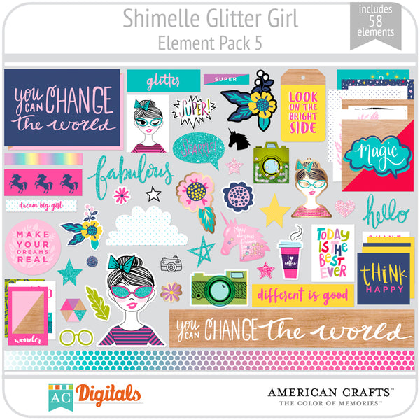 Shimelle Glitter Girl Element Pack 5