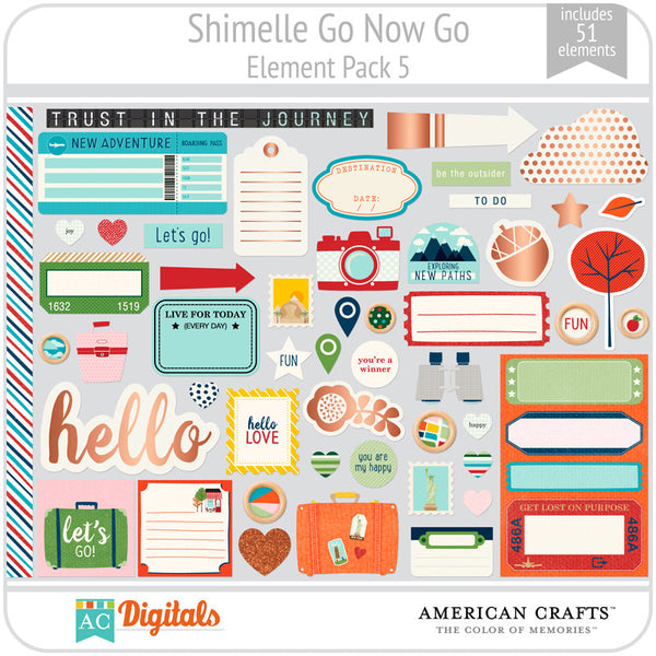 Shimelle Go Now Go Element Pack 5