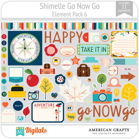 Shimelle Go Now Go Element Pack 6