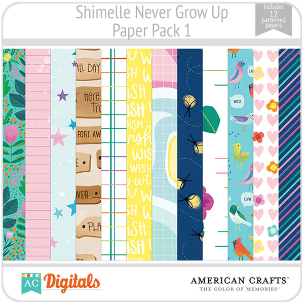 Never Grow Up  Paper Pack 1