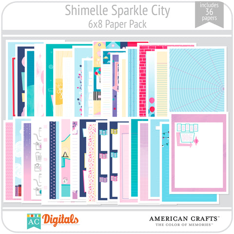 Sparkle City 6x8 Papers