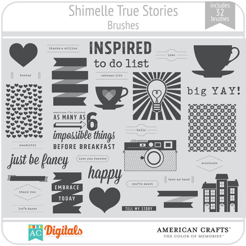 Shimelle True Stories Brushes