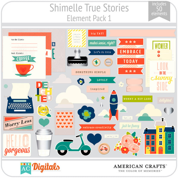 Shimelle True Stories Element Pack 1