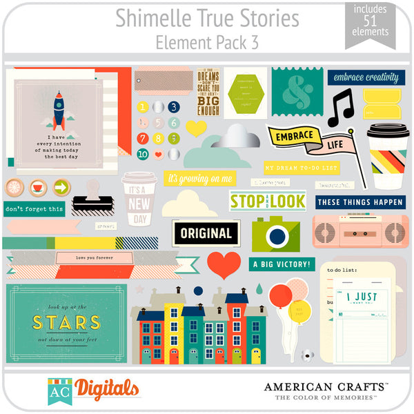 Shimelle True Stories Element Pack 3