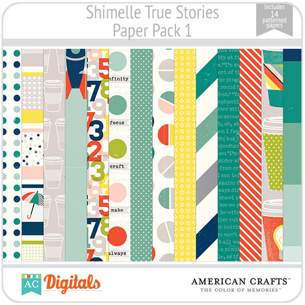 Shimelle True Stories Paper Pack 1