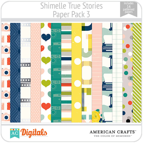 Shimelle True Stories Paper Pack 3