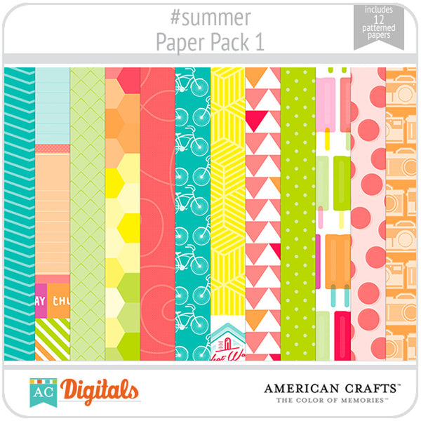 #summer Paper Pack 1