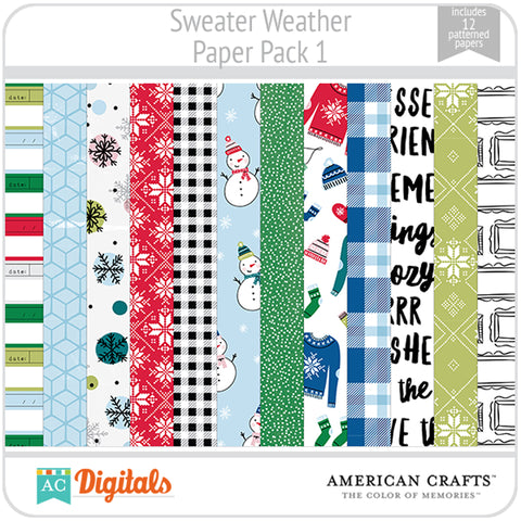 Sweater Weather Paper Pack 1