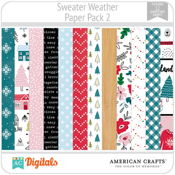 Sweater Weather Paper Pack 2