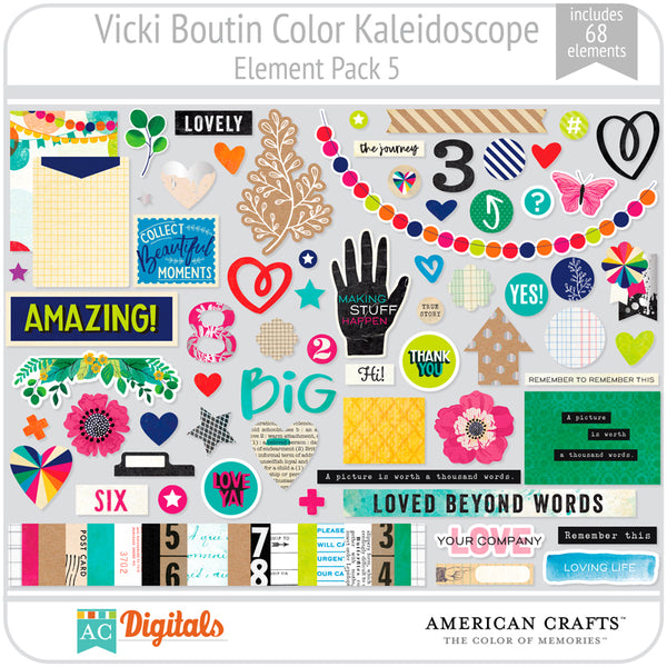 Color Kaleidoscope Element Pack 5